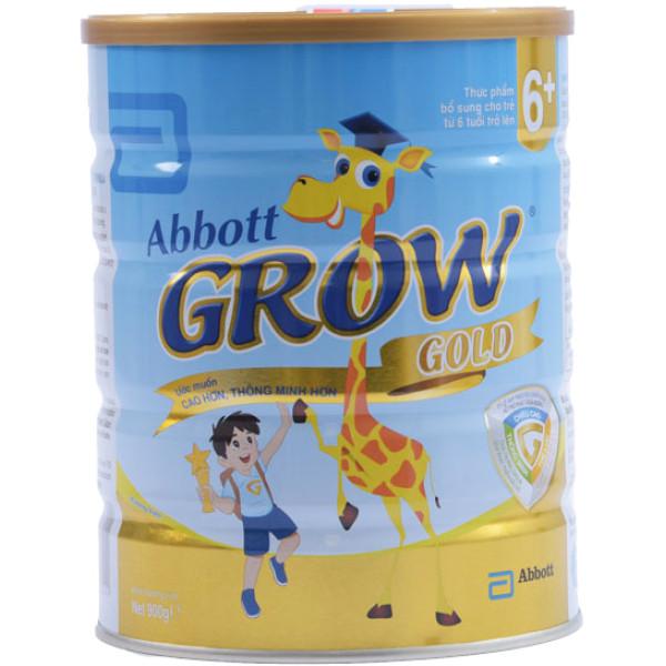 Sữa Bột Grow Gold 6+ Vani Hộp Thiếc 900G