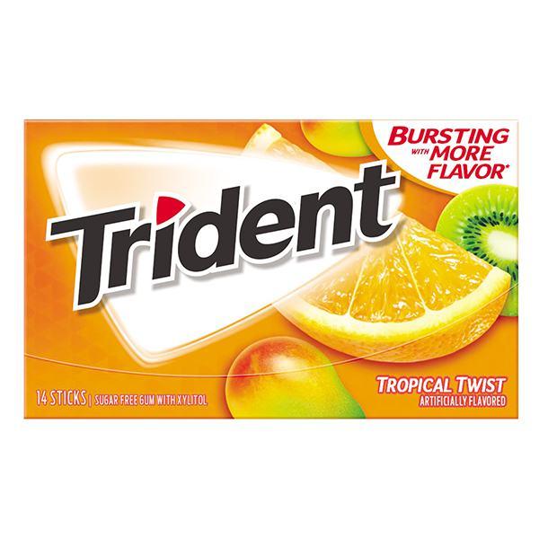 Kẹo Gum Trident Không Đường Vị Trái Cây Nhiệt Đới