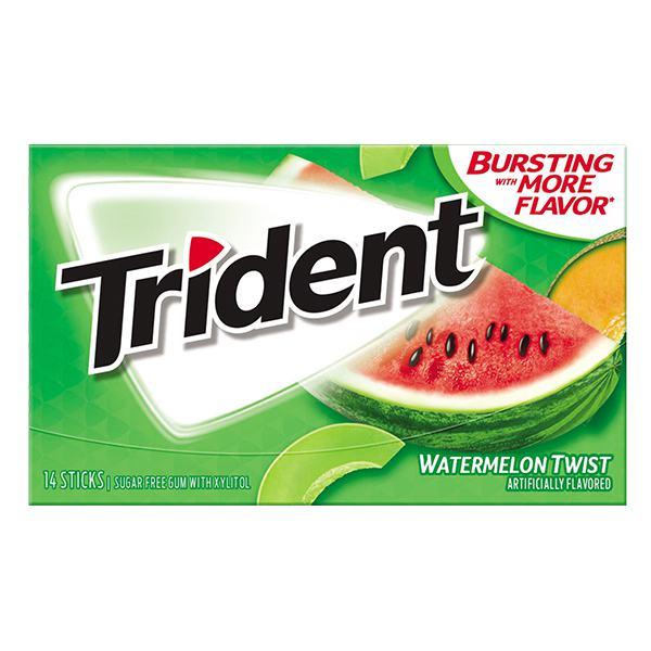 Kẹo Gum Trident Không Đường Vị Dưa Hấu