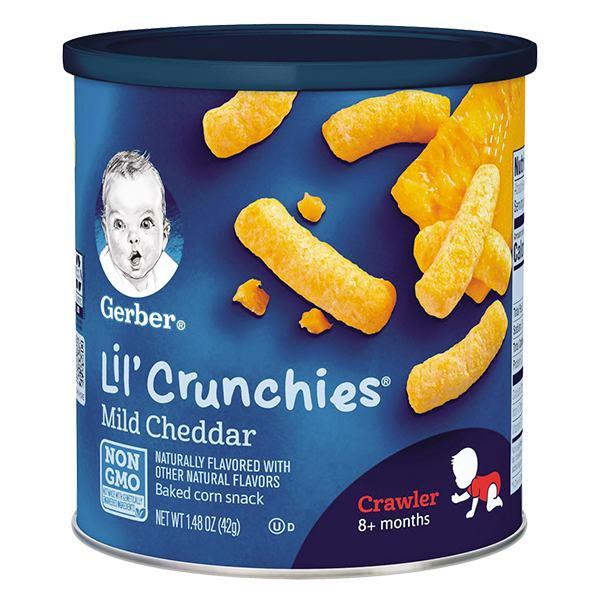 Bánh Ăn Dặm Gerber Lilcrunch Phô Mai 42G