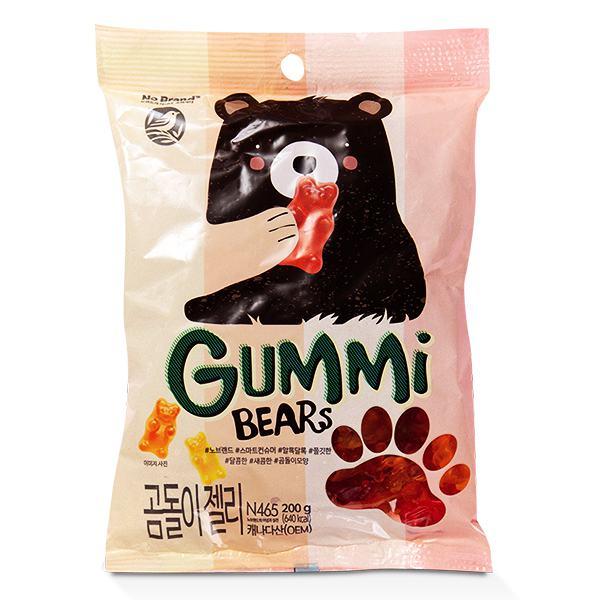 Kẹo Dẻo Gấu Gummy No Brand 200G