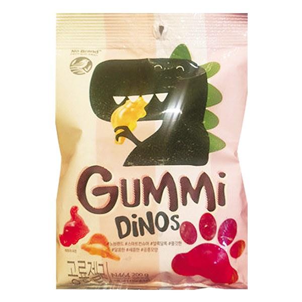 Kẹo Dẻo Gummi No Brand Hình Khủng Long Gói 200G