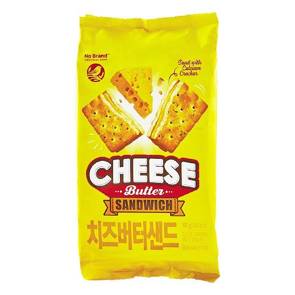 Bánh Quy No Brand Kẹp Phô Mai Gói 190G