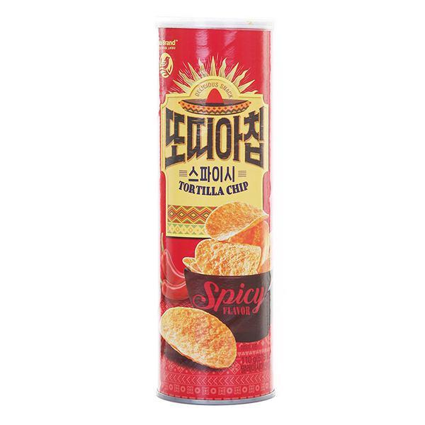 Snack Tortilla No Brand Giòn Vị Cay Hộp 110G