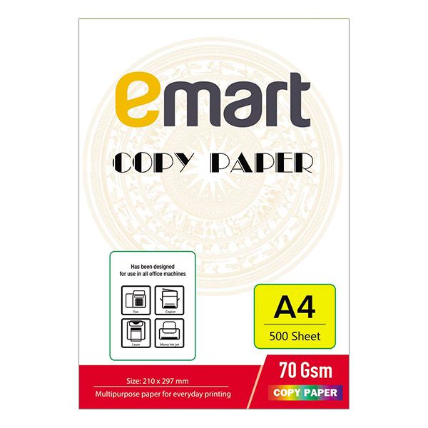 Giấy In A4 Emart 500 Tờ 70GSM