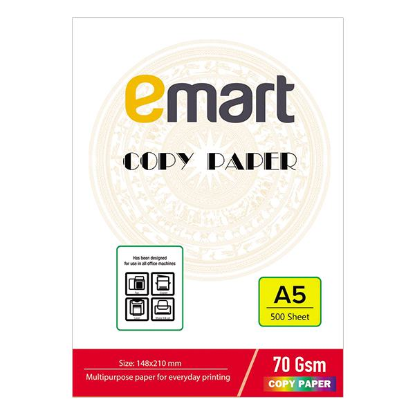 Giấy In A5 Emart 500 Tờ 70GSM