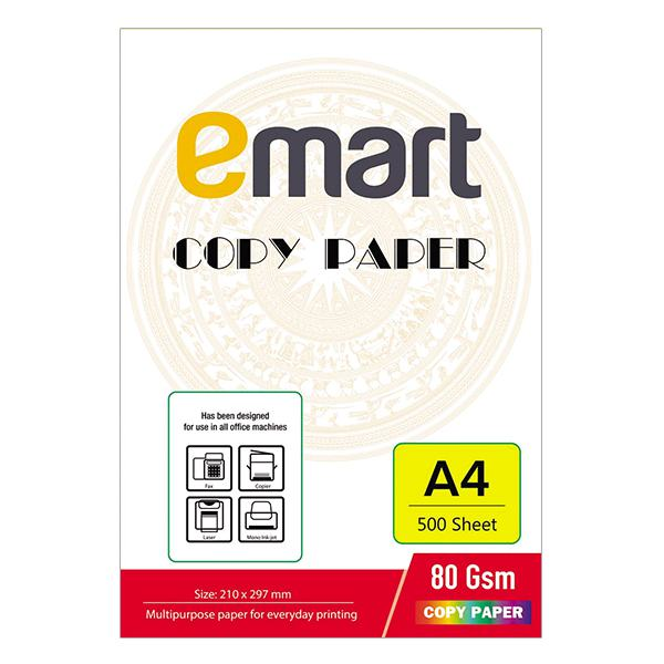 Giấy In A4 Emart 500 Tờ 80GSM