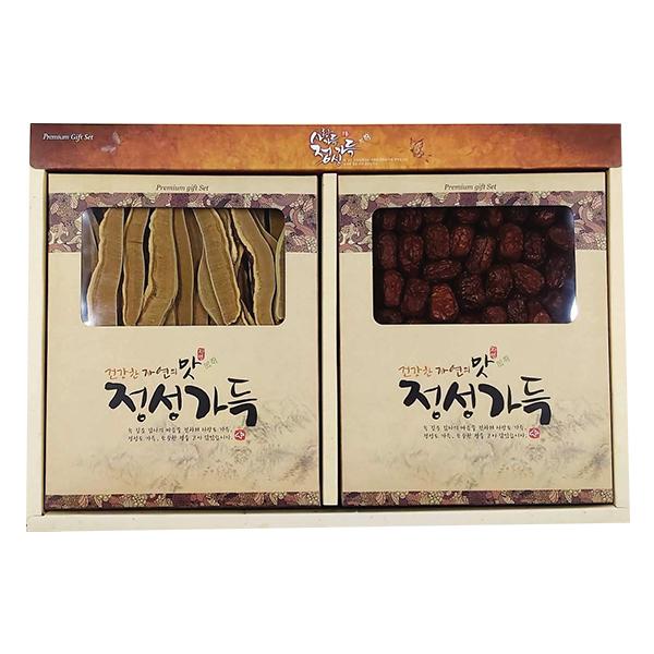 Set Nấm Linh Chi Cắt Lát Và Táo Đỏ Hàn Quốc