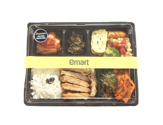 Tonkatsu Dosirak (Cơm thịt heo chiên + Súp kim chi) - 1 Set cơm phần đủ cho 2 người ăn
