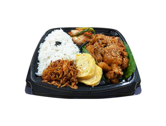 Set Cơm Phần Hàn Quốc Thịt Heo Xào Cay