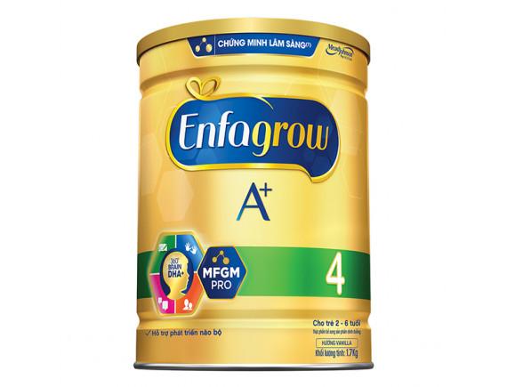 Sữa Bột Dinh Dưỡng Enfagrow A+4 Hương Vani 360 Hộp Thiếc 1.7Kg