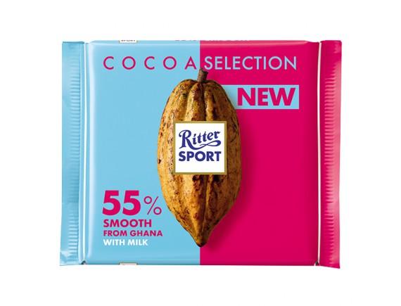 Socola Viên Hỗn Hợp Ritter Sport Sữa Cacao 55% Gói 100G