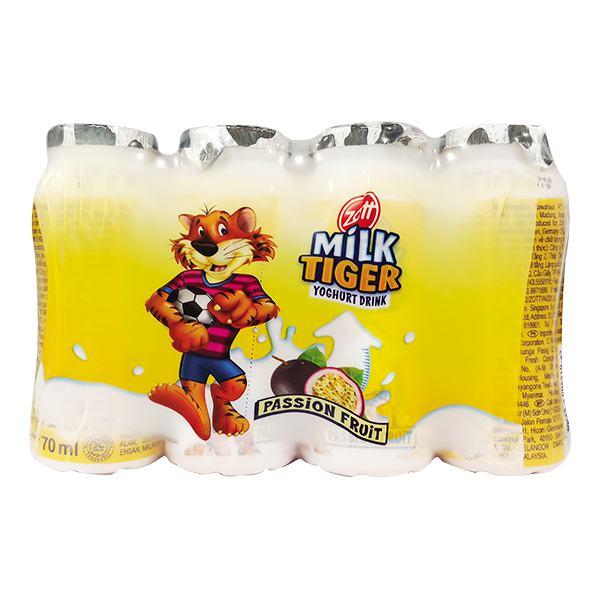 Lốc 4 Sữa Chua uống Zott Monte Vị Chanh Dây 70Ml