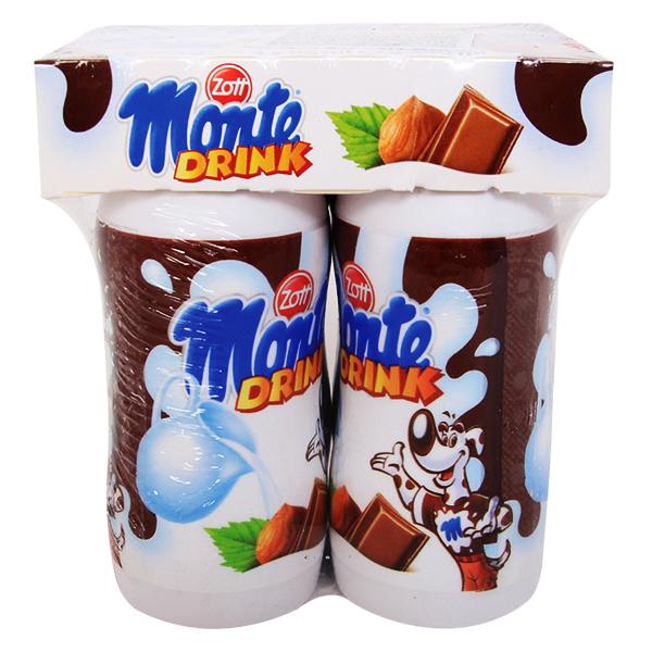 Lốc 4 Váng Sữa Uống Zott Monte Vị Socola 95Ml