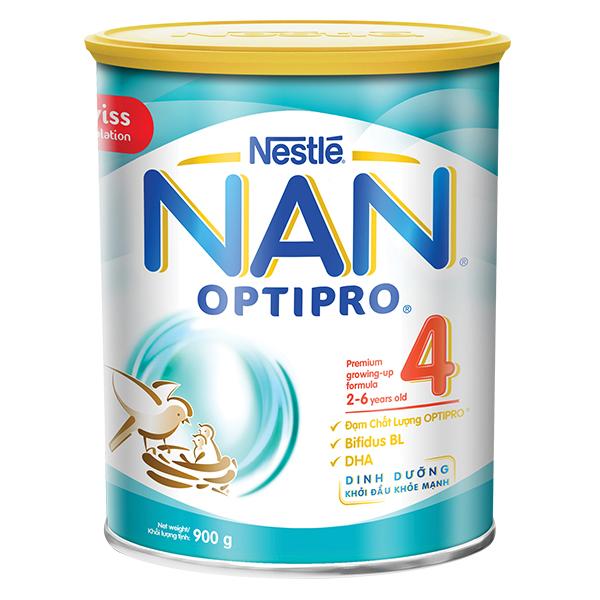 Sữa Bột Nan Optipro 4 Hộp Thiếc 900G