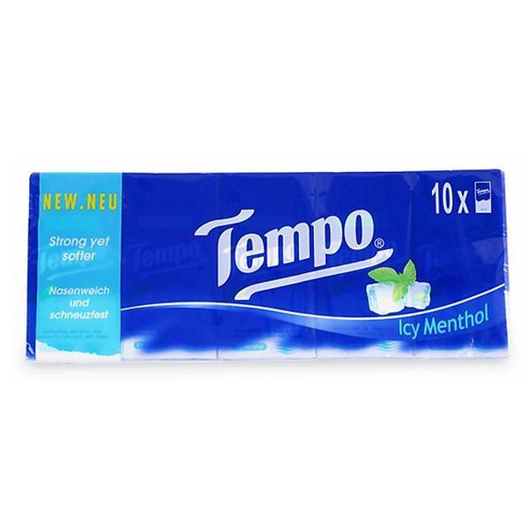 Khăn Giấy Tempo Icy Menthol Lốc 10 Gói