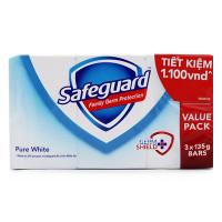 Lô 3 Xà Bông Cục Safeguard Trắng 135G