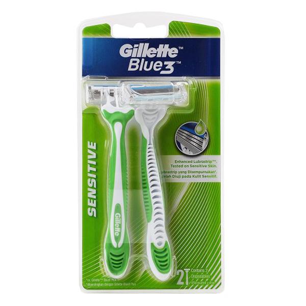 Lô 2 Dao Cạo Gillette Blue 3 Sensitive