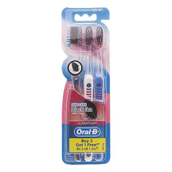 Lô 3 Bàn Chải Đánh Răng Oral-B Siêu Mềm Trà Đen