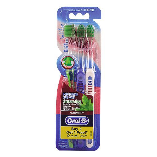 Lô 3 Bàn Chải Đánh Răng Oral-B Siêu Mềm Trà Xanh