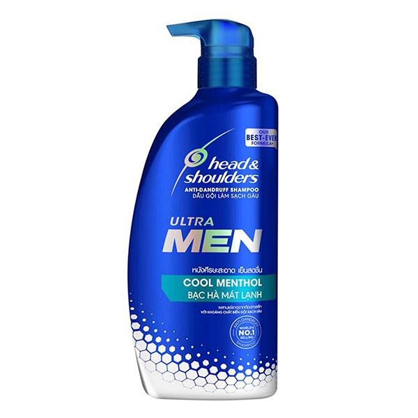 Dầu Gội Head & Shoulders Ultra Men Bạc Hà Chai 720Ml