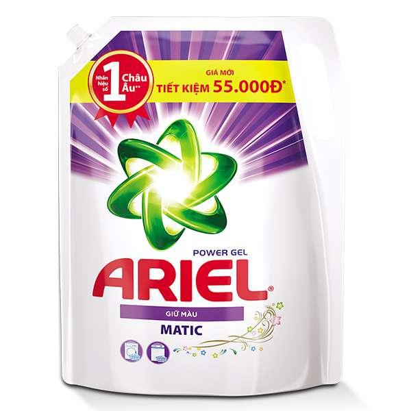 Nước Giặt Ariel Matic Giữ Màu Túi 2.15Kg