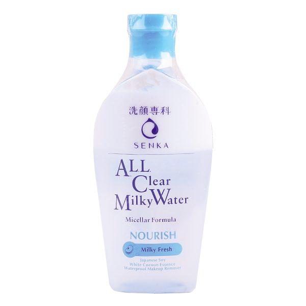 Nước Sữa Tẩy Trang Senka All Clear Milky Water Nourish Sạch Sâu 230Ml