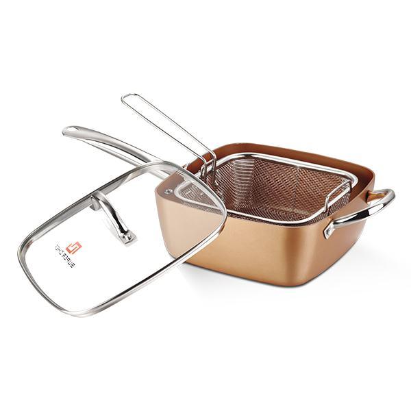 Bộ Chảo Chiên Và Rổ Inox Super Chef SC_G2024S 24*24Cm