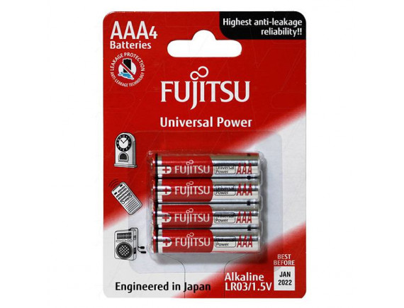 Pin Fujitsu Alkaline LR03 4B Size AAA