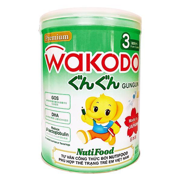 Sữa Dinh Dưỡng Nutifood Wakodo Gungun Số 3 Hộp Thiếc 830G