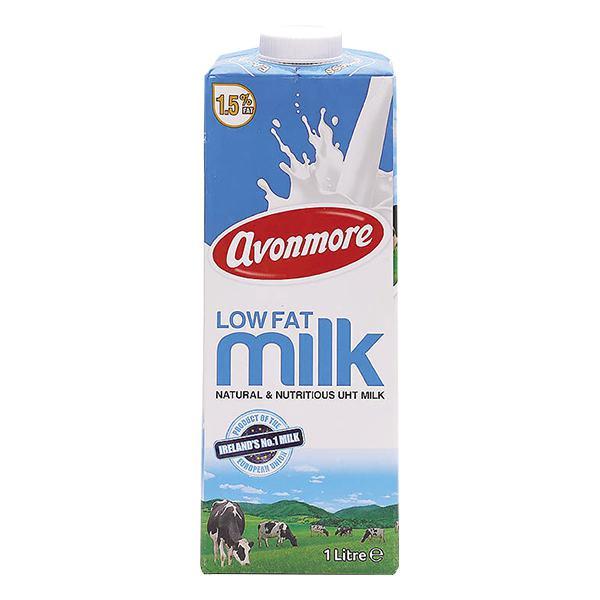 Sữa Tươi Tiệt Trùng Avonmore Ít Béo Hộp Giấy 1L