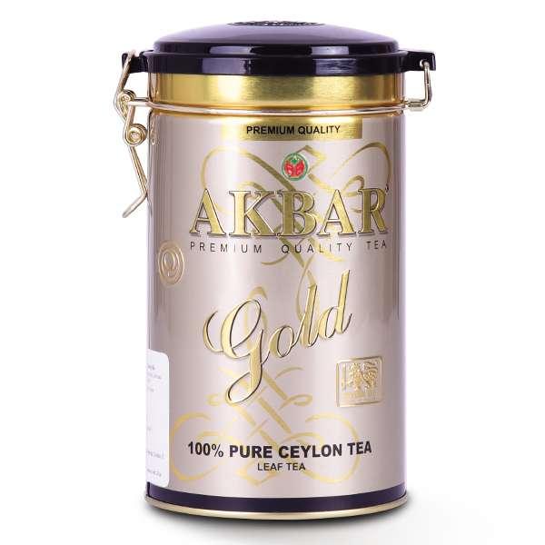 Trà Đen AkBar Gold Hộp Thiếc 225G