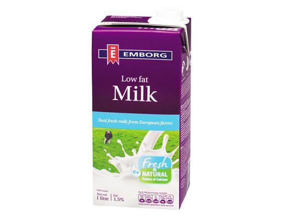 Sữa Tươi Tiệt Trùng Emborg Ít Béo Hộp 1L