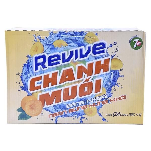 Nước Chanh Muối Revive Thùng 24 Chai 390Ml