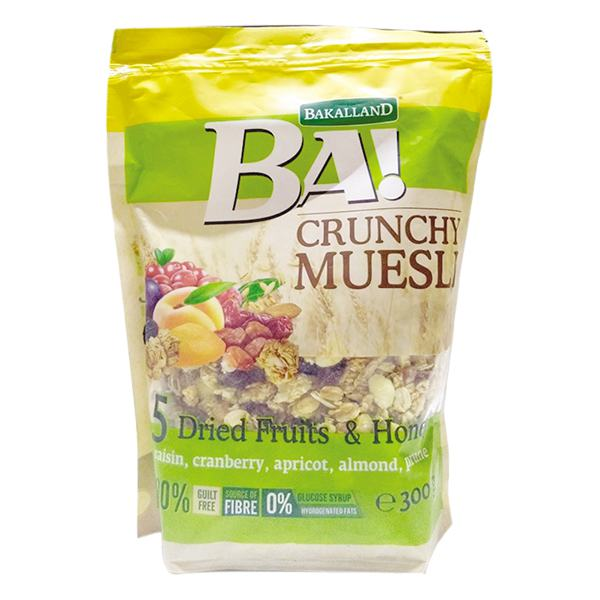 Ngũ Cốc Bakalland Muesli 5 Dried Fruit & Honey 300G