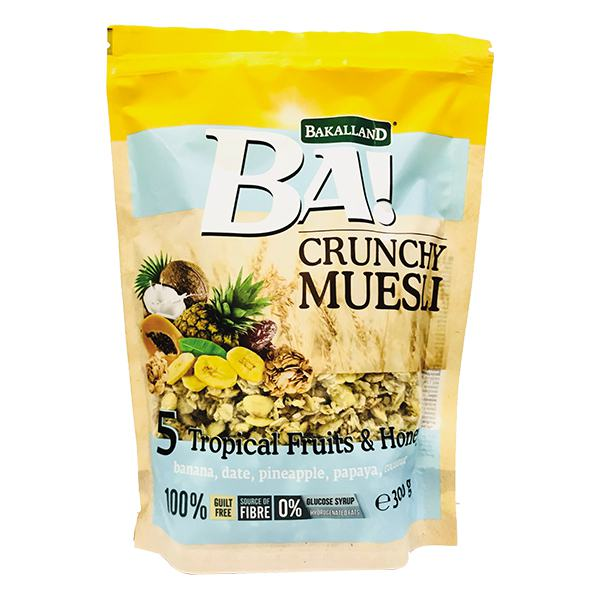 Ngũ Cốc Bakalland Muesli 5 Tropical & Honey 300G