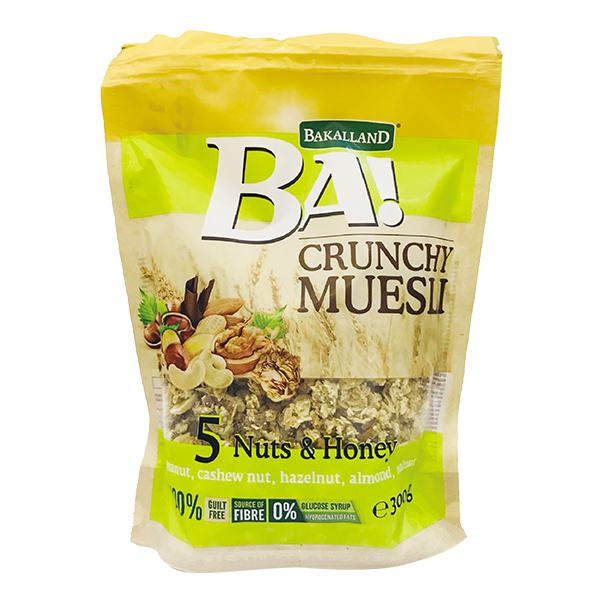 Ngũ Cốc Bakalland Muesli 5 Nuts & Honey 300G