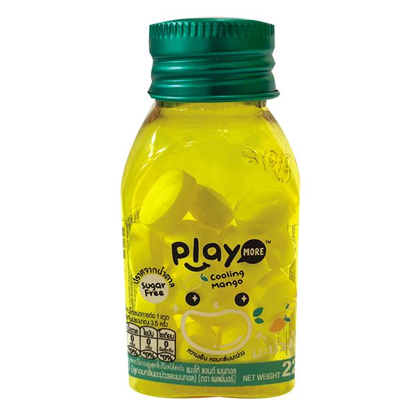 Kẹo Playmore Vị Xoài Hũ 22G