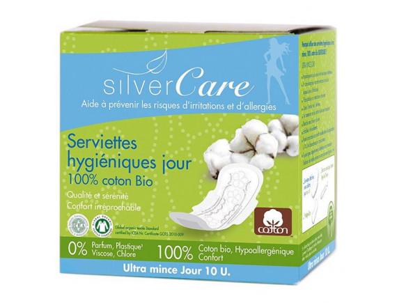 Băng Vệ Sinh Hữu Cơ Silver Care Ban Ngày Siêu Mỏng Cánh 10 Miếng