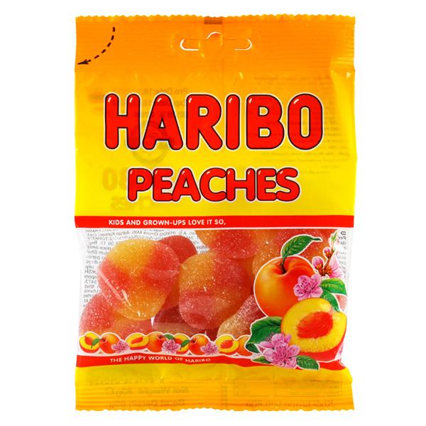 Kẹo Dẻo Haribo Peaches Gói 80G
