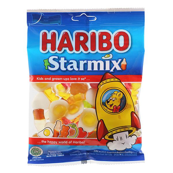 Kẹo Dẻo Haribo Starmix Gói 160G
