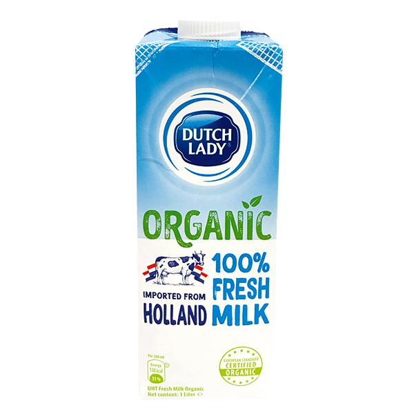 Sữa Tươi Tiệt Trùng Dutch Lady Organic Hộp Giấy 1L