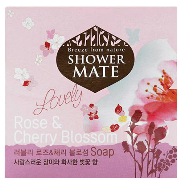 Xà Bông Cục Shower Mate Hoa Đào & Hoa Hồng 100G