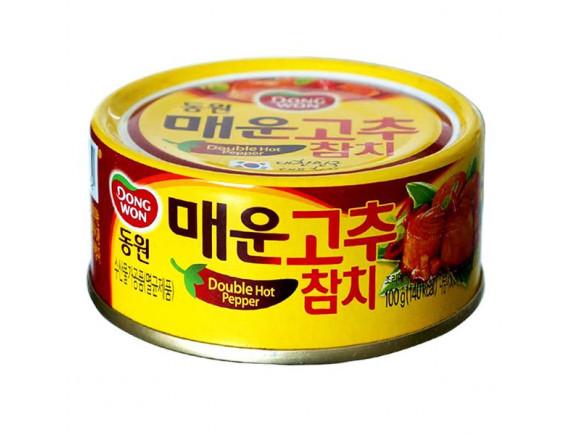 Cá Ngừ DongwonVị Ớt Cay Gấp Đôi Hộp 100G