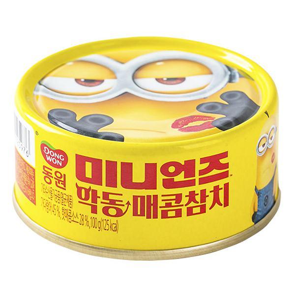 Cá Ngừ Vị Ớt Cay Evil Minions Dongwon Hộp 100G