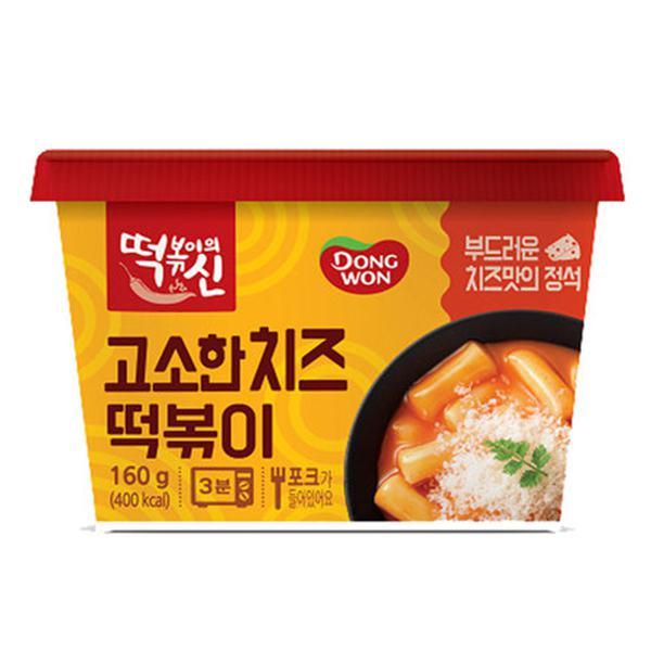 Bánh Gạo Phô Mai Cay Tteokbokki Dongwon Hộp 120G