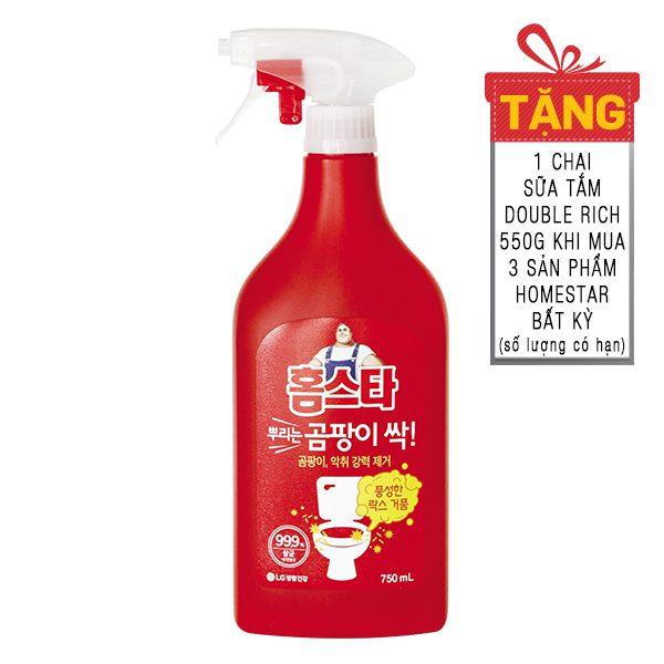 Xịt Tẩy Đa Năng Loại Bỏ Nấm Mốc Khử Mùi Hôi Homestar Chai 750Ml
