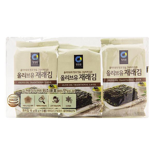 Lô 3 Rong Biển Miwon Tẩm Dầu Olive 5G