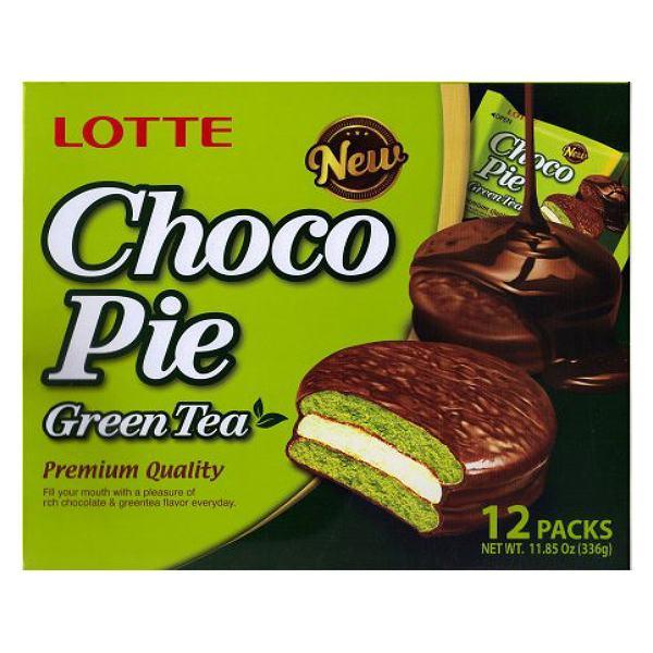 Bánh Lotte Chocopie Trà Xanh 336G