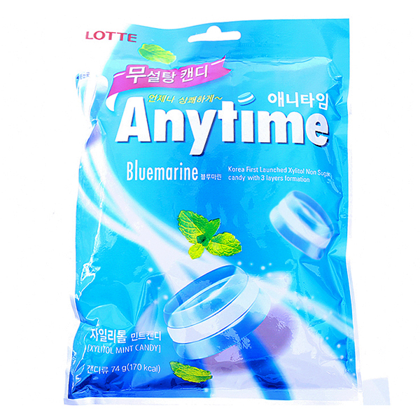 Kẹo Lotte Anytime Bluemarrine 74G